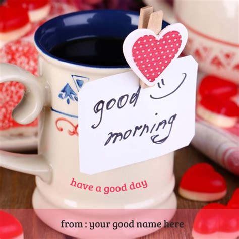 write   good morning mug images