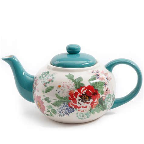 A Pot Of Tea the pioneer country garden teapot 23 oz wash