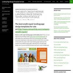 Credit Repair Landing Page Template Ppv Landers Pearltrees