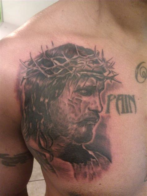 jesus tattoo on chest jesus tattoos and designs page 63