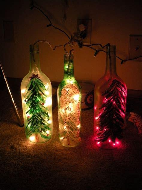 christmas wine bottle lights 183 a bottle l 183 glasswork