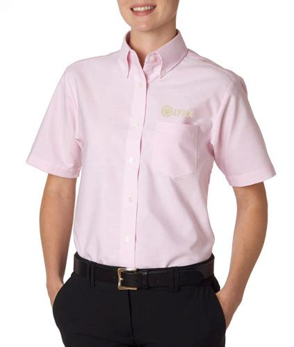 design lab online lynx ladies ss dress shirt pink lynx