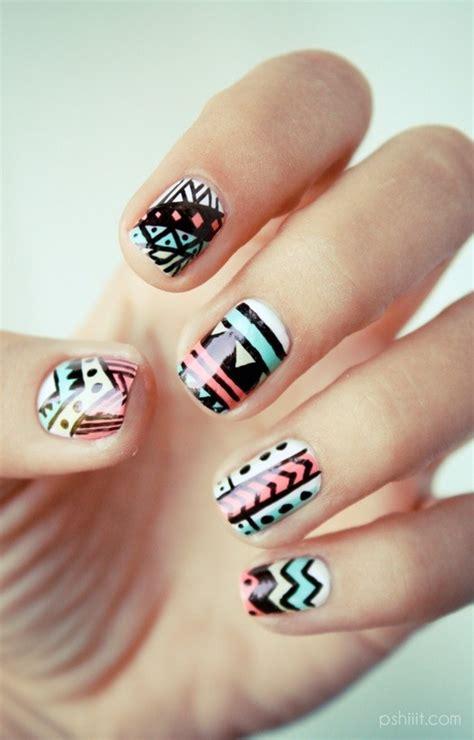 tutorial nail art aztec nail trends aztec nails tutorial trusper