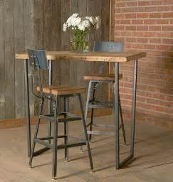 bar height table from wood goods