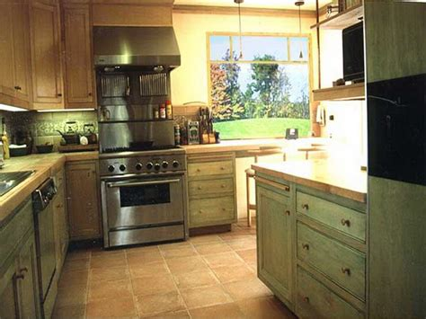 green cabinet kitchen stained oak kitchen cabinets