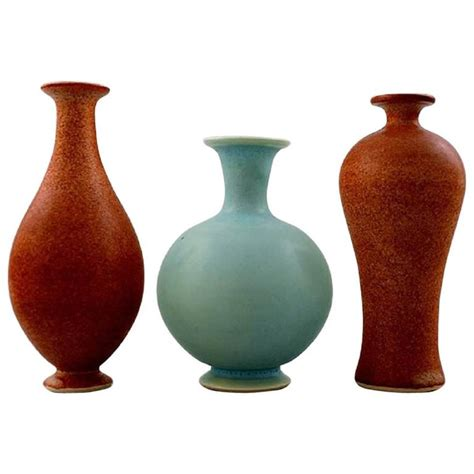 Unique Vases For Sale Three Unique Miniature Ceramic Vases By Per Liljegren