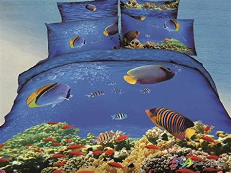 tropical fish comforter personal shopping blue with yellow tropical bedding the