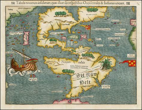 early maps early map of the americas sebastian munster tabula