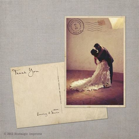 vintage thank you card wedding thank you cards thank you note cards vintage
