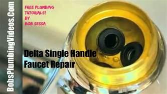 how to fix a delta faucet how to repair a delta single lever faucet