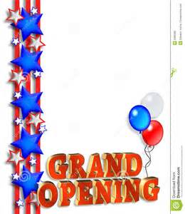 grand opening announcement template royalty free stock