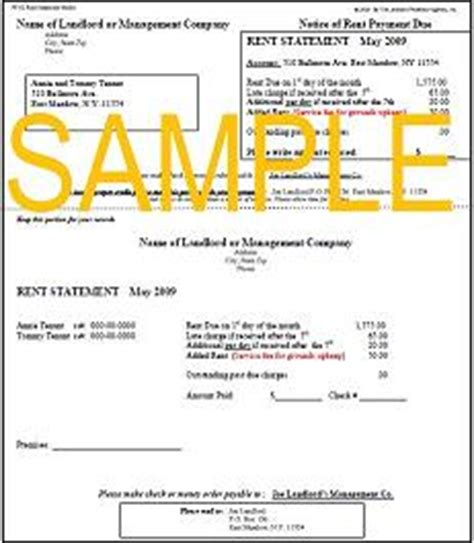 Landlord Newsletter Rent Statement Lease Statement Template