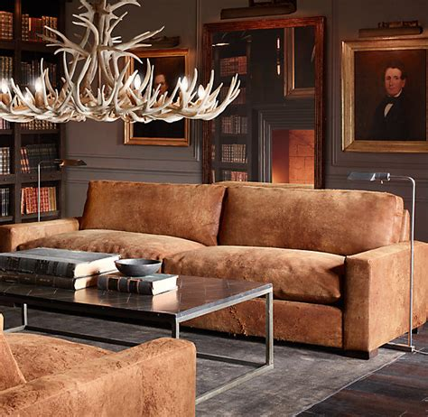 Maxwell Leather Sofas Leather Sofas Living Rooms And Restoration Hardware Maxwell Leather Sofa