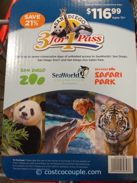 San Diego Gift Card - san diego zoo 3 in 1 pass gift card