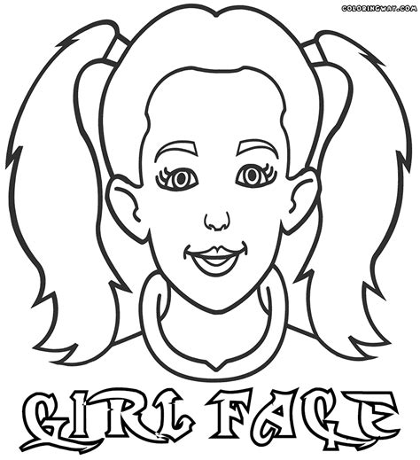 coloring page girl face face coloring pages coloring pages to download and print