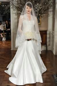 Beautiful wedding dress with sleeves for more attention to the bodice