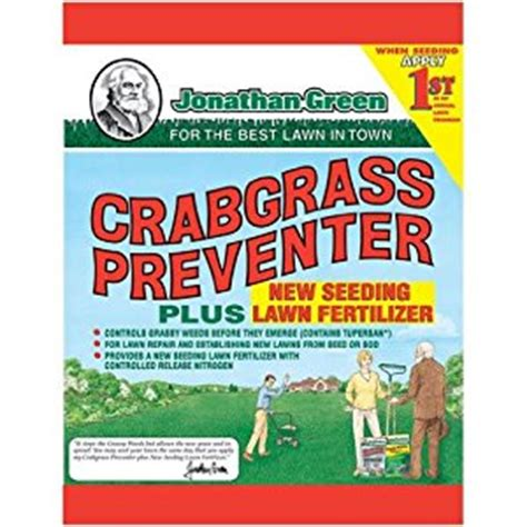 green charger fertilizer jonathan green 10465 crabgrass preventer plus new seeding