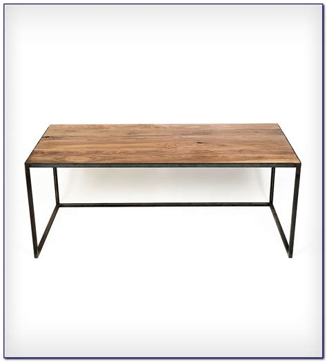 Wood Top Desk With Metal Legs Page Home Design