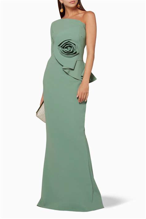 Noriko Dress shop luxury chiara boni la robe green noriko
