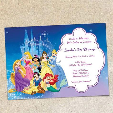 disney birthday invitation templates disney princesses invitation template instant