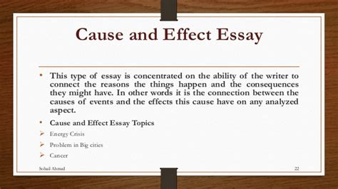 Cause And Effect Sle Essay by Cause And Effect Essay Sle Pdf 28 Images Causal Essay Sle 100 Essay Sle Ad Analysis Essay