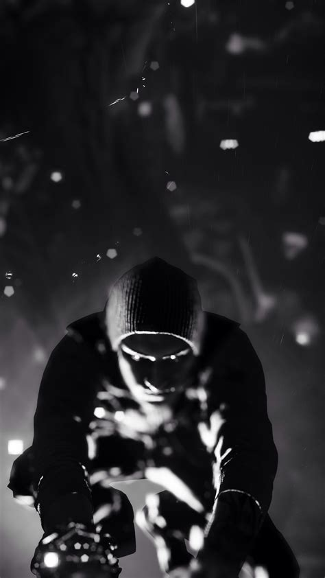 wallpaper black and white for android infamous second son black and white android wallpaper free