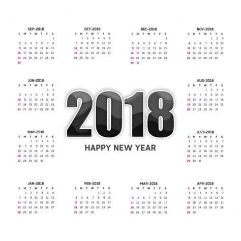 Calendrier 2018 Psd Calendario Blanco Para 2018 Descargar Vectores Gratis