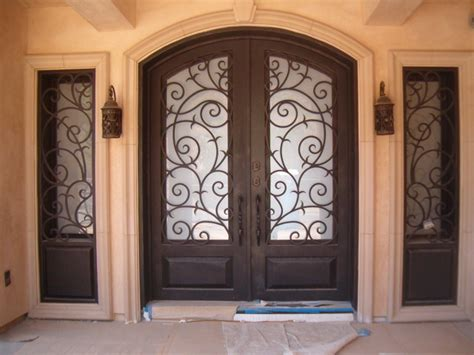 Wrought Iron Exterior Door Front Doors Creative Ideas
