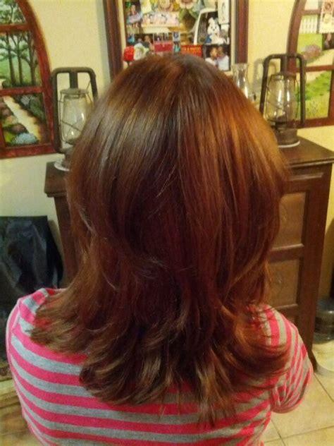 Deep Layers Haircut | deep chocolate brown on a layered haircut hair and