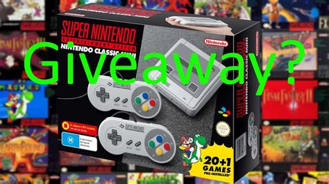 giveaway nintendo entertainment system nes classic edition dudeiwantthat snes min i nintendo entertainment system classic mini reaction giveaway