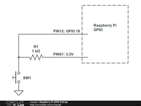 gpio pull up pull resistor raspberry pi gpio pull up circuitlab