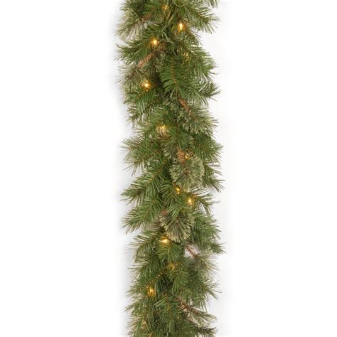 best xmas lighted garlands 100ft 9 ft atlanta spruce pre lit garland garland at hayneedle