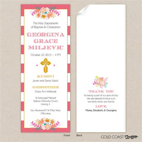 baptism program template free christening invitation card maker