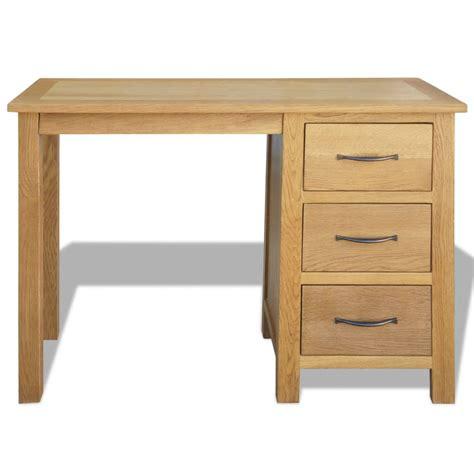 oak desk with drawers vidaxl desk with 3 drawers oak 106x40x75 cm vidaxl co uk