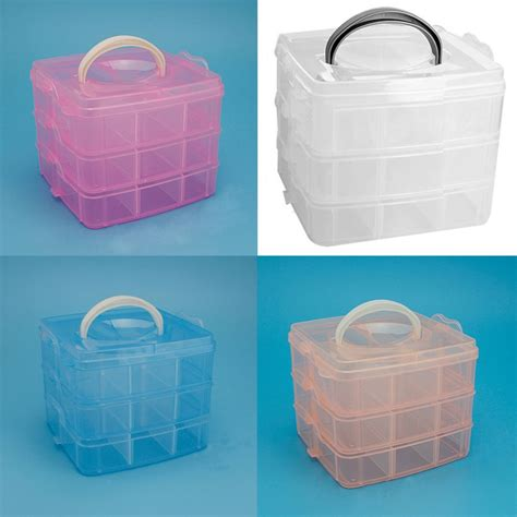 plastic storage containers for makeup 2014 new portable plastic nail makeup cosmetics