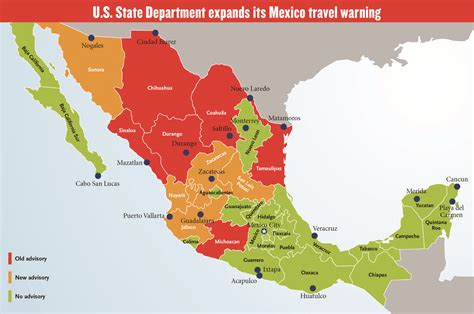 map of mexico vacation spots mexico travel warning security in mexico