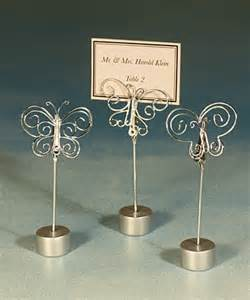 silver butterfly card picture holder with base