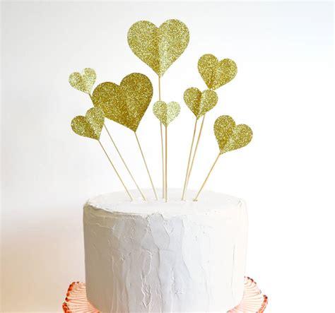 Handmade Cake Topper - handmade glitter cake topper by comeuppance