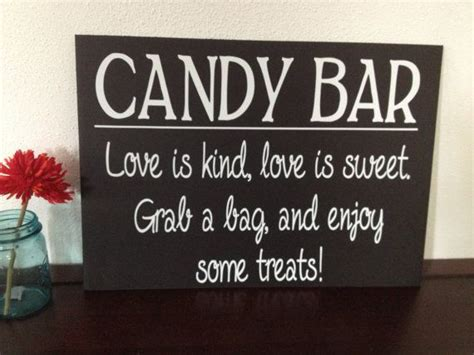 Candy Buffet Sign Sign For Buffet