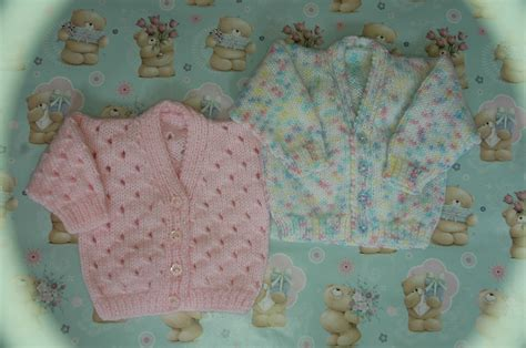 free toddler knitting patterns uk dk premature babies newborn lacy plain cardigan