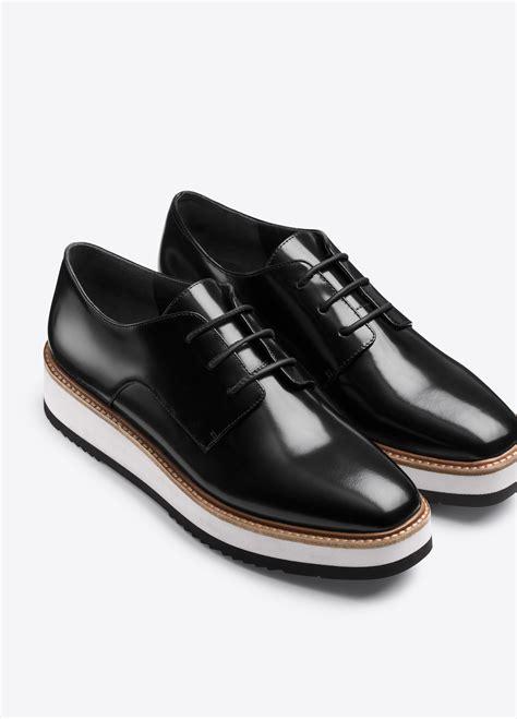 black platform loafers lyst vince reed platform leather loafer in black