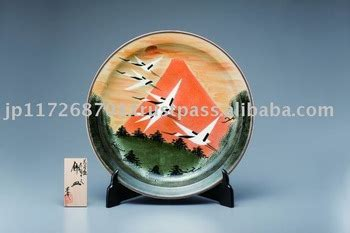Kail Plat Brand Mount Fuji No 14 kutani kiln ceramic plate quot mt fuji and cranes quot buy kutani kiln decorative plate product on