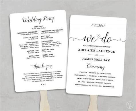 wedding program fans cheap printable wedding program template fan wedding program