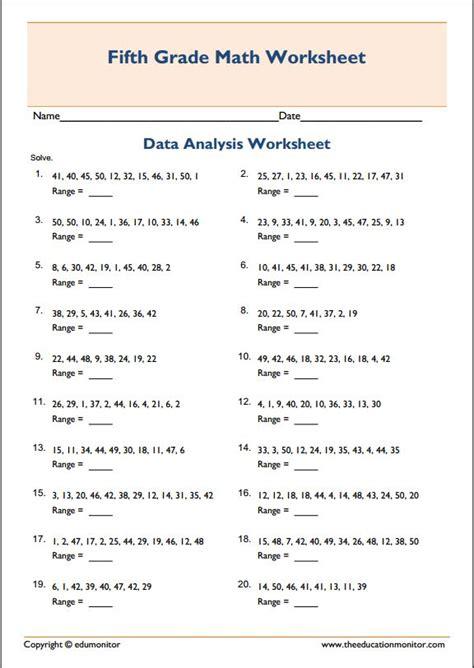 printable worksheets mean median mode range mean median mode range printable worksheets edumonitor