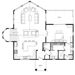 One Story Log Home Floor Plans by Single Story Log Cabin House Plans