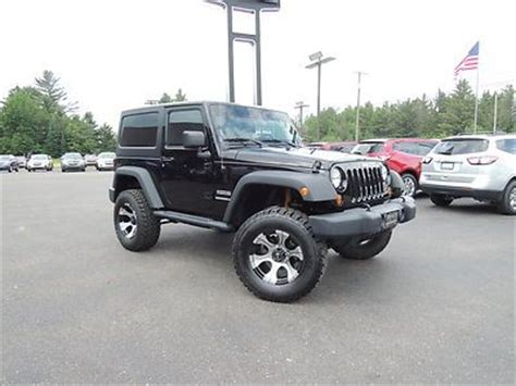 jeep wrangler 2 door hardtop black sell used 12 jeep wrangler 2 door 4x4 lifted black hardtop