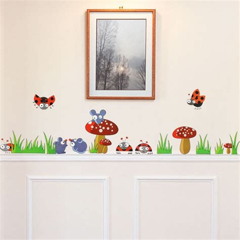 toadstool wall stickers mouse toadstool skirting border wall decals wall