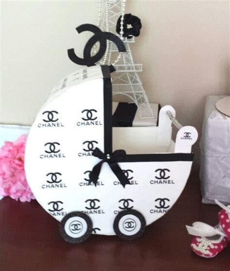 chanel baby carriage baby shower theme diy thick constuction paper print chanel pattern