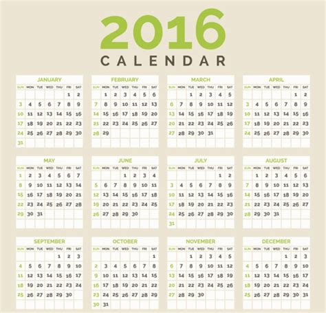 design calendar simple simple 2016 calendar design vectors vector calendar free