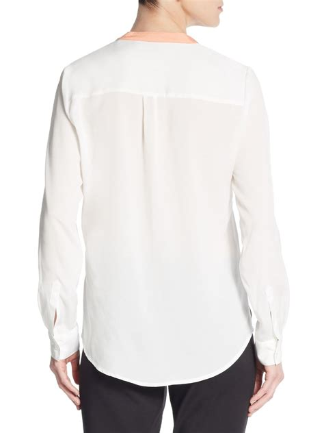 Trumpi Blouse ivanka colorblock blouse in white lyst